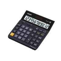 Casio 12 Digit Landscape Tax/Currency Calculator Black DH-12TER-S-EH