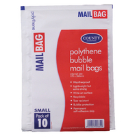 County Small Polythene Bubble Envelope (Pack of 10) C271