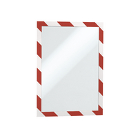 Image for Durable A4 Red/White Duraframe (2 Pack) 4944-132
