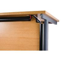Image for D-Line Black Desk Trunking Cable Management 50x25mm 1.5m 2D155025B (2 Pack)