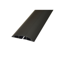 Image for D-Line Black Light Duty Floor Cable Cover 80mm Wide 9m Long CC-1/9M