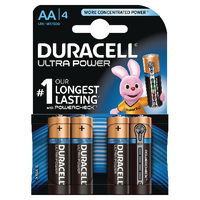 Image for Duracell Ultra Power AA Batteries (4 Pack) 75051955