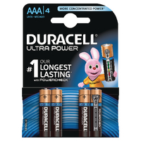 Image for Duracell Ultra Power AAA Batteries (4 Pack) 75051959
