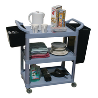 GPC 3 Shelf Service Trolley Grey HI424Y