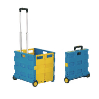 GPC Blue and Yellow Large Folding Box Truck GI041Y