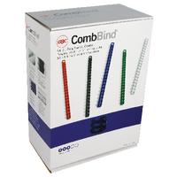 GBC Blue CombBind Binding Combs 19mm (100 Pack) 4028621U