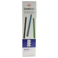 Image for GBC White CombBind 8mm Binding Combs (100 Pack) 4028194