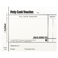 Guildhall 100 Leaves White Petty Cash Pad 103 1569