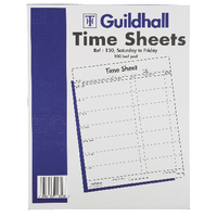 Guildhall Time Sheet 254 x 203mm Saturday - Friday (100 Pack) 1653