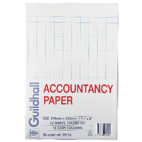 Image for Guildhall Accountancy Paper 16 Cash Columns (240 Pack) 39/16