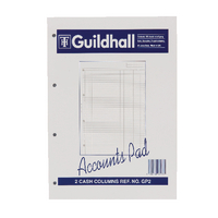 Image for Guildhall A4 Account Pad 2-Column Cash GP2 1587