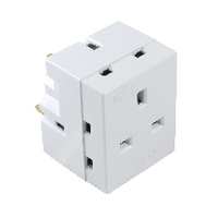 Image for CED 3-Way Adaptor Fused 13amp WAP3W