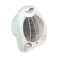 Image for Fan Heater Upright 2kW White