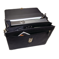 Image for Monolith Black Leather Briefcase 3193