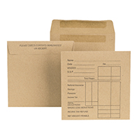 Image for New Guardian Wage Envelope 108 x 102mm Printed 80gsm Manilla Self Seal (1000 Pack) E20291