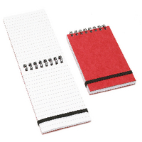 Image for Cambridge Wirebound Elasticated Red Notebook 76 x 127mm Ruled 192 Pages (10 Pack) 100080058