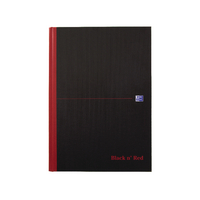 Image for Black n Red A4 Casebound Hardback Single Cash Book 192 Pages (5 Pack) 100080537