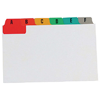 Image for Concord 6x4in MultiColour Guide Cards (24 Pack) 15298