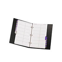 Image for Concord A5 Black Telephone/Address Binder 83010/CD6