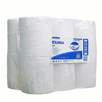 Wypall L10 Wipers Mini Centrefeed White Roll 1 Ply (12 Pack) 7374