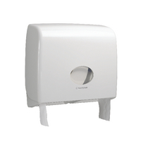 Aquarius White Ripple Midi Jumbo Non-Stop Toilet Tissue Dispenser 6991