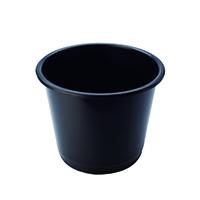 Image for Q-Connect 15 Litre Black Waste Bin CP025KFBLK