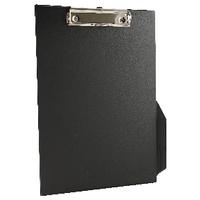 Image for Q-Connect Black A4/Foolscap PVC Clipboard
