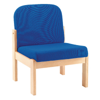 Image for Arista Beech Veneer Blue Reception Seat PS1346