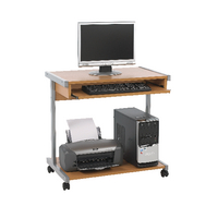 Image for Jemini Intro Beech 800mm Mobile Computer Workstation