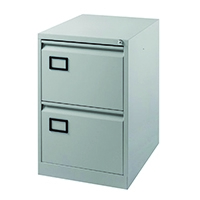 Image for Jemini Grey 2 Drawer Filing Cabinet XK2B