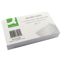 Image for Q-Connect Record Card 5x3 Inches Ruled Feint White (100 Pack)