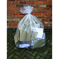 2Work Clear Wheelie Bin Liner (100 Pack)