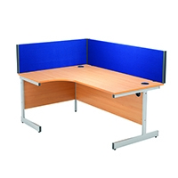 Image for Jemini Straight Blue 1600mm Desk Screen