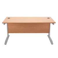 Image for Arista Beech 1600mm Rectangular Desk