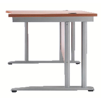 Image for Arista Beech 1600mm Wave Desk Left Hand