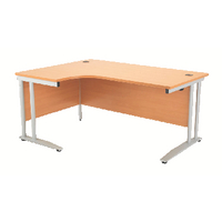 Image for Arista Left Hand Beech 1600mm Radial Desk
