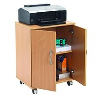Image for Jemini Intro Beech Mobile PC Printer Stand