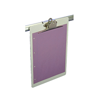 Image for Lloyd Foolscap White Acrylic Clipboard BF90H