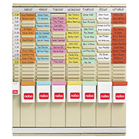 Image for Nobo 7 T-Card Panel Midi Office Planning Kit 480x480mm 29110