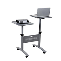 Image for Nobo Grey LCD/DLP Projector Trolley Twin Platform 1900791