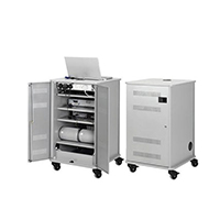 Image for Nobo Grey Multimedia Projection Trolley Cabinet 1902339