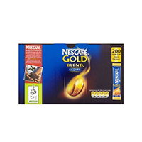 Nescafe Gold Blend Decaffeinated One Cup Sticks Coffee Sachets (200 Pack) 12130482