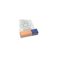 Acorn Green Bin Heavy Duty Clear/Printed Recycling Bin Liner (50 Pack) 402573