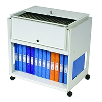 Image for Rotadex Standard Universal Filing Trolley With Locking Lid Grey RT501S