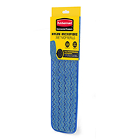 Rubbermaid Microfibre 400mm Wet Mop Head Blue RU17533