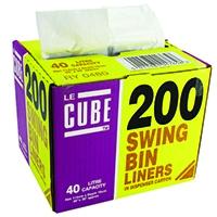 Le Cube 46 Litre Swing Bin Liner Dispenser (200 Pack) 0480