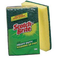 3M Scotch-Brite Heavy Duty Washing Up Scouring Sponge (10 Pack) UU003643432