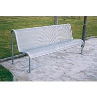 Value Grey Metal Mesh Outdoor Bench Seat 315563
