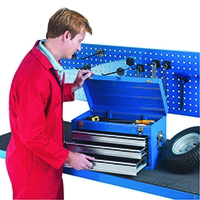 Image for 3 Drawer Blue Tool Chest 329228