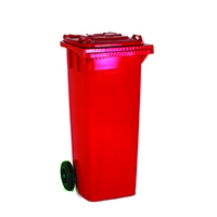 2 Wheel Red Refuse Container 80 Litre 331270